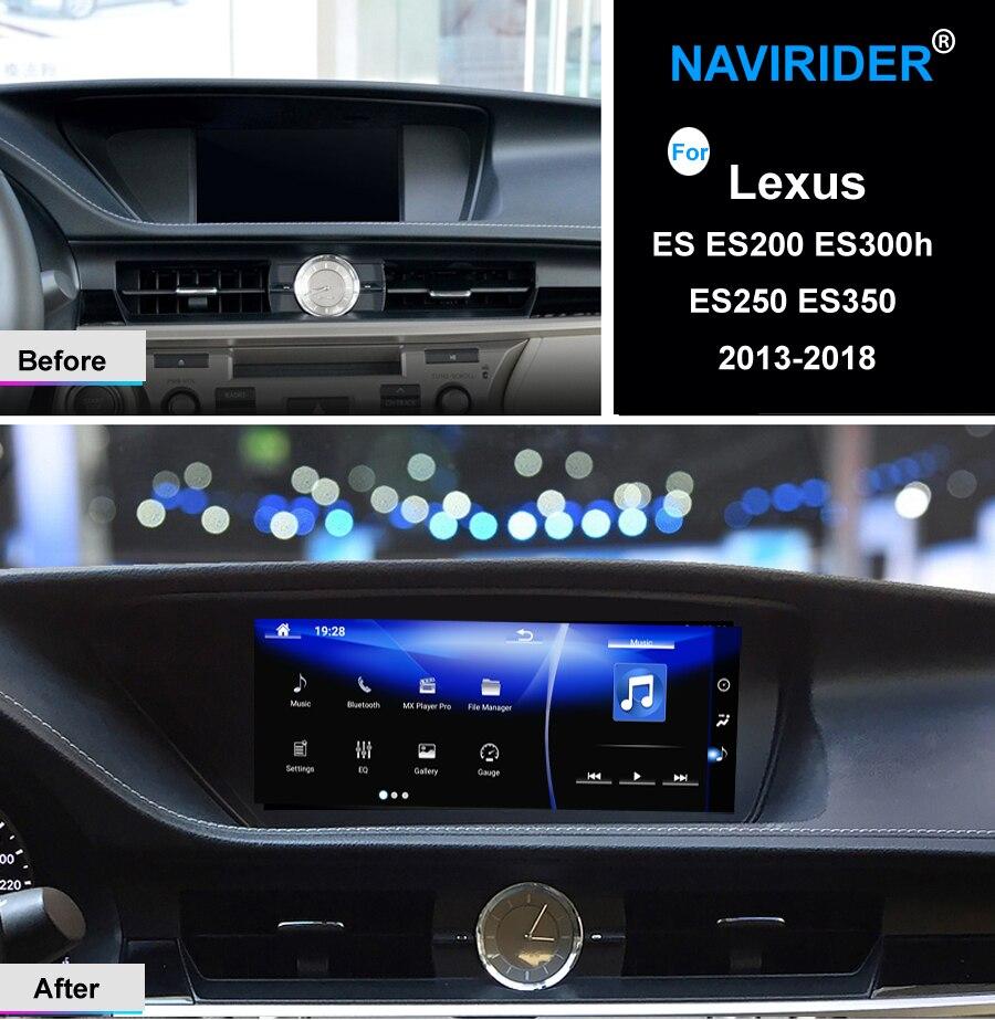 NAVIRIDER Android 7.1 voiture multimédia GPS Audio Radio stéréo pour Lexus ES ES200 ES300h ES250 ES350 2013-2018 enregistreur d'unité de tête