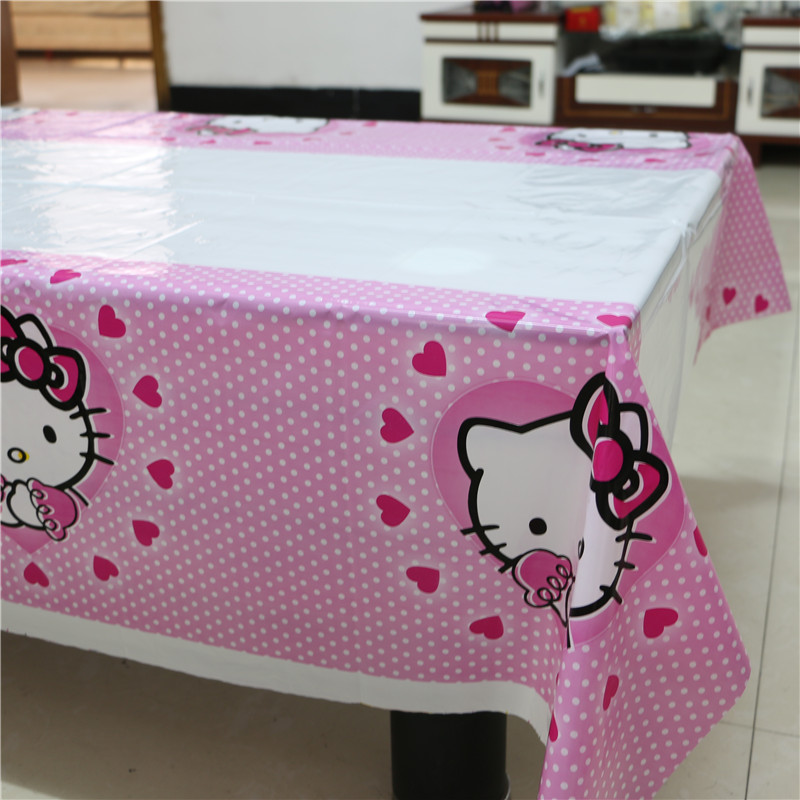 Hello Kitty Plastic Table Cloth