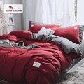 Комплект постельного белья из красного пододеяльника в японском стиле