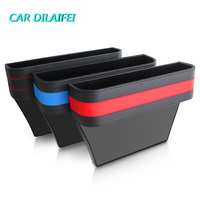 1PC Car Styling Stowing Tidying Armrest Car Seat Crevice Storage Box Cup Drink Holder Organizer Auto Gap Pocket Phone Pad