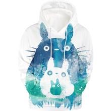 2019 totoro 3D bluzy z kapturem bluzy z kapturem animacji kawaii swetry kobiety jesień z długim rękawem dres ponadgabarytowych bluza z kapturem moda ubrania tanie tanio Poliester Na co dzień Jersey 330g Drukuj REGULAR Pełna