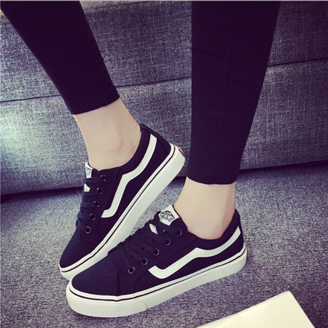 Fashion Teenage Girl Canvas Shoes Women Causal Flat Shoe