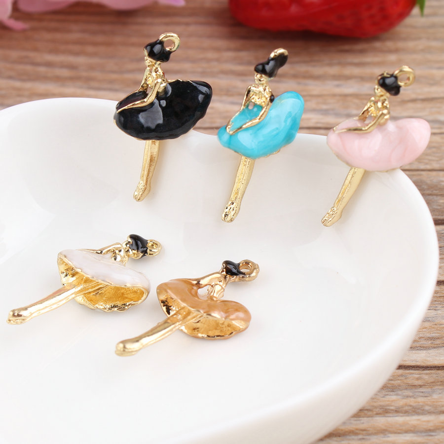 2016 Fashion 12pcs Lot Dancing Ballet Girl Oil Drop Charms ... 5cc9dbda5a27