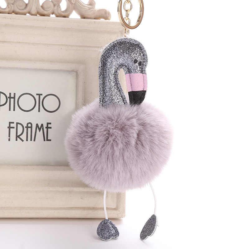 Женская сумка Розовый фламинго брелок кольцо хороший кошелек для ключей брелок-Подвеска Сумочка автомобильный кулон аксессуары подарок 6C0019