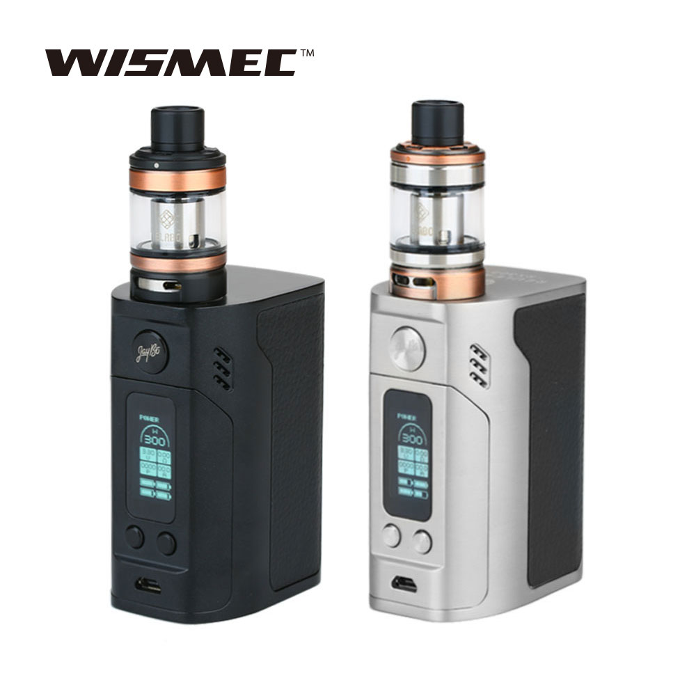цены WISMEC Reuleaux RX300 Mod 300W with WISMEC Elabo 4.9ml Tank Atomizer Vaping Kit Without 18650 Battery E-cigarette rx300 Vape Kit