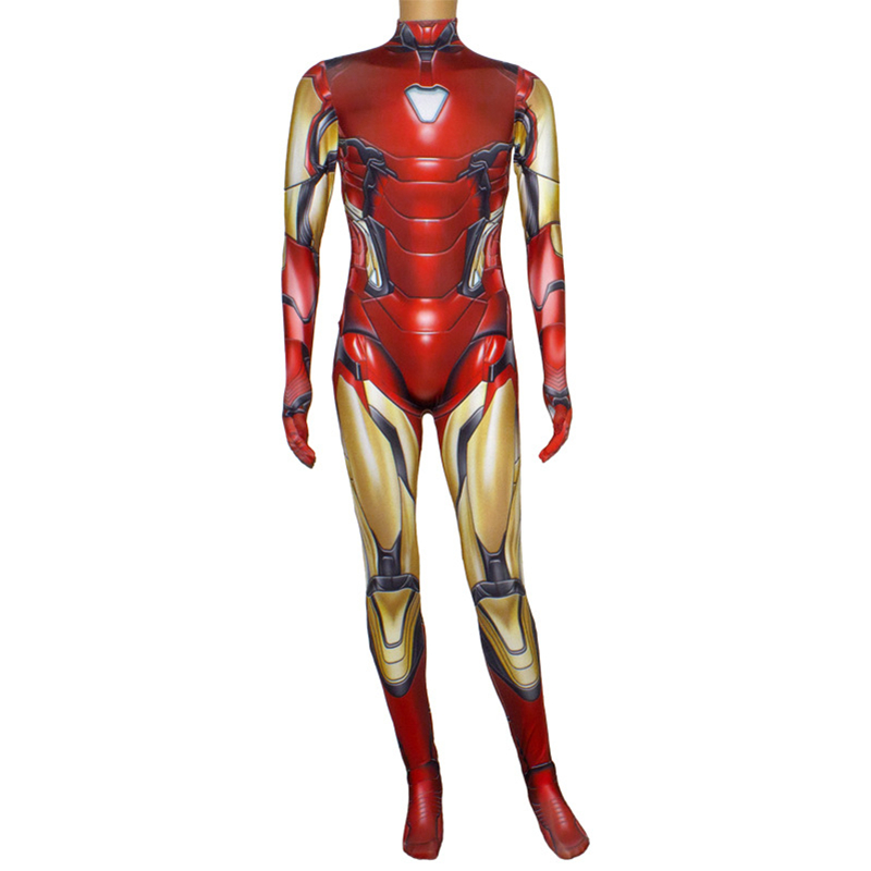 Image 3 - Iron Man Costume Adult Kids Endgame Superhero Costume Iron Man Cosplay Jumpsuit Halloween Costume For Adult Child Carnival Party
