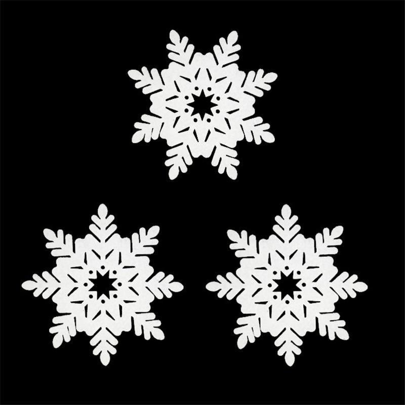 24 шт. Рождество Украшение Моделирование белая пена Снежинка елка стены, Декор окна висит Новый год партии восьмигранный снег капля