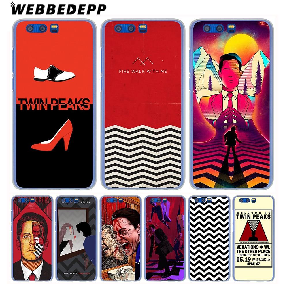 WEBBEDEPP Red WELCOME TO TWIN PEAKS Case for Huawei Honor 10 9 8 Lite 7 6 X 6A 6C Pro Y6 Y5 Y3 II Y7 2017 2018