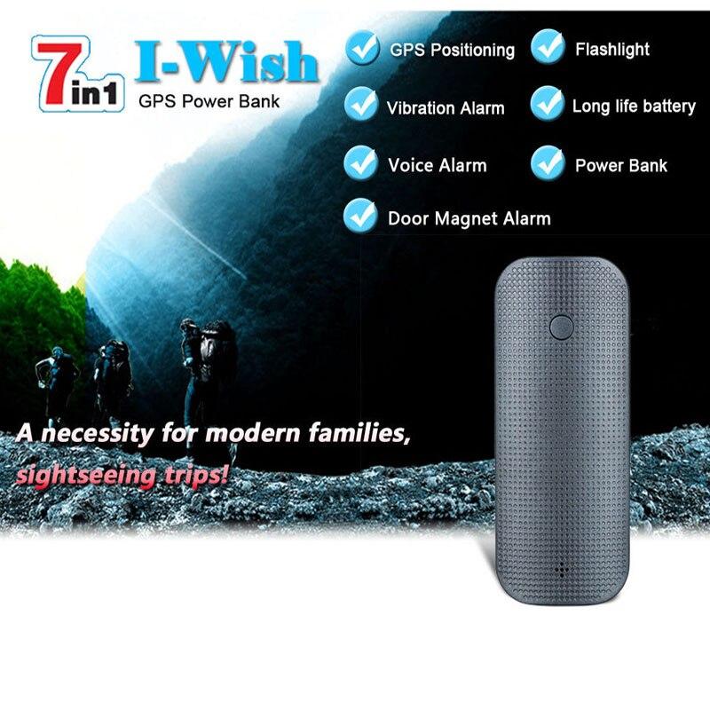 Portable GPS Tracker V20 Multi-function 7-in-one Real-time Tracker GS /GPRS Burglar Alarm with LED Flashlight Can Quickly Charge reachfar rf v20 7 in 1 multifuncional gps tracker 4500mah power bank