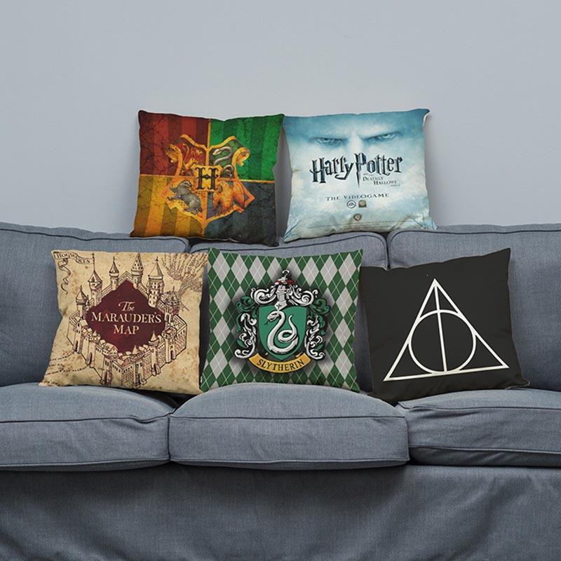 Cotton Linen Harry Potter Decorative Cushion Covers Car Seat Pillow Cover Cushion Covers For Sofa F