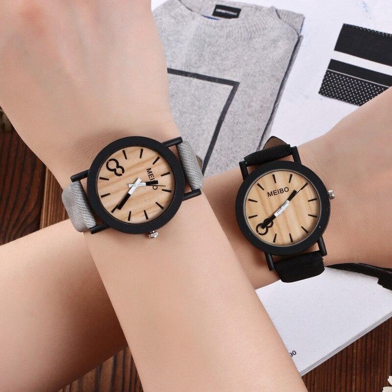 Watch Men Clock Woman Quartz Wooden Retro Vintage Reloj Brand Mujer
