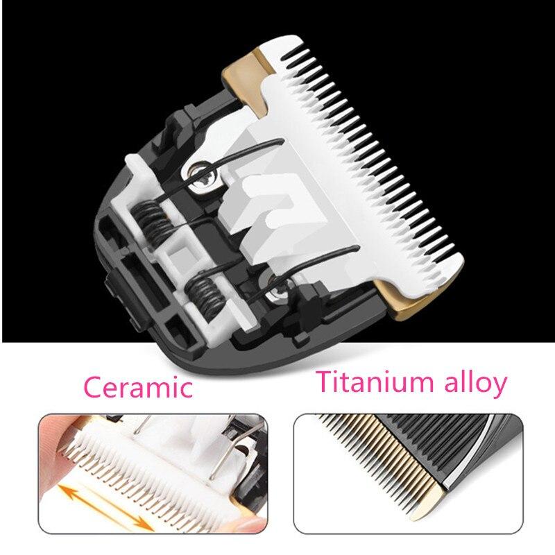 Tondeuse à cheveux électrique professionnel coupe-cheveux adulte enfants Rechargeable tondeuse à cheveux rasoir Guide peigne barbier coupe de cheveux Machine - 4