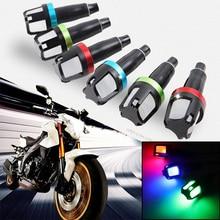 1 Paia LED Indicatori di direzione Indicatore Bar Ends Manopole Bar End Super Luminoso Della Lampada Della Luce universale moto scooter e-bike