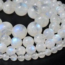 """Ожерелье из настоящего природного синий флэш-лунный камень бисер, свободные бусины, Класс класс AAA, круглая форма, 4 мм, 5 мм, 6 мм, 7 мм, 8 мм, 9 мм, 10mm. 1, 15"""""""