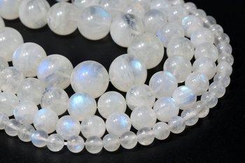 Ожерелье из настоящего природного синий флэш-лунный камень бисер, свободные бусины, Класс класс AAA, круглая форма, 4 мм, 5 мм, 6 мм, 7 мм, 8 мм, 9 мм, ...