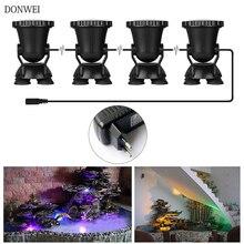 DONWEI 4 шт. RGB 36 светодиодный подводный светильник Точечный светильник Водонепроницаемый IP68 погружной светильник s для пруда Аквариум Ландшафтный светильник Инж