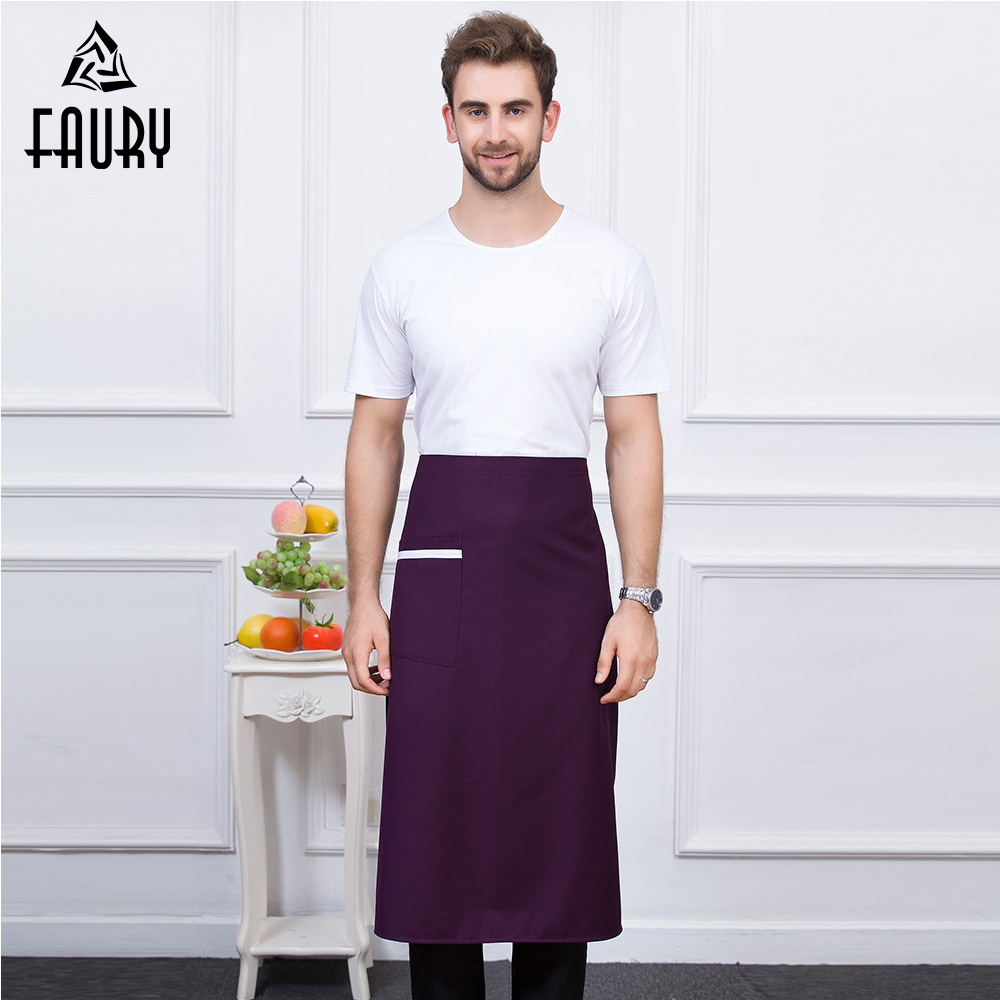 New 5 Color Wholesale Unisex Food Service Kitchen Restaurant Chef Waiter Cafe Catering Hot Pot Shop Cooking Work Wear Aprons