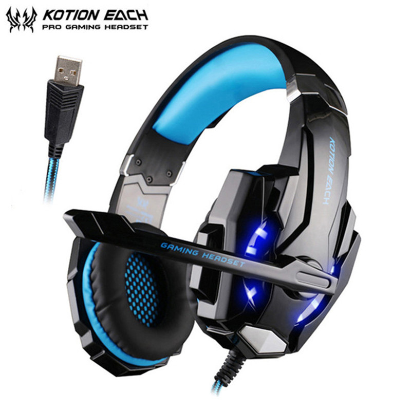 SOKELY G9000 USB 7.1 Surround Sound Gaming Headphone Casque LED Light Game Headset Earphone with Mic for PC Computer Gamer ndju g9000 bass gaming headphone ps4 headset earphone with 3 5mm led light player gamer headphones with mic for pc laptop phones