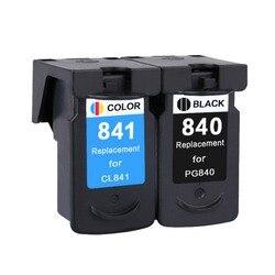 YLC 1 zestaw PG840 CL841 kompatybilny kartridż do PG 840 CL 841 dla Canon MX378 MX438 MX518 MG2180 MG3180 MG4180 drukarki w Tusze do drukarek od Komputer i biuro na