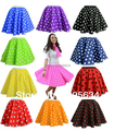 Free shipping  new hot   Ladies 50s  polka dot  Rock and Roll Skirts many colors