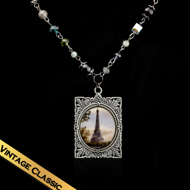 Special Vintage Bronze Pendant Necklaces Free Shipping Austria Crystal Long Chain Necklaces XL13A092002