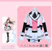 d08c4654f4d6a Kizuna AI Kanal YouTube Yeni Kıyafet Üniforma Cosplay Kostüm Güzel Günlük  Takım Elbise Için Kadın Ücretsiz Kargo