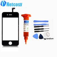 For Apple 4 4s TouchScreen Digitizer Glass Lens Sensor Replacement Parts For Iphone 4 4s