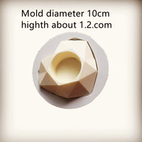 Diamond Romantic Heart Shape Silica Gel Mold Cake Valentine S Day Candle Holder DIY Craft Candle