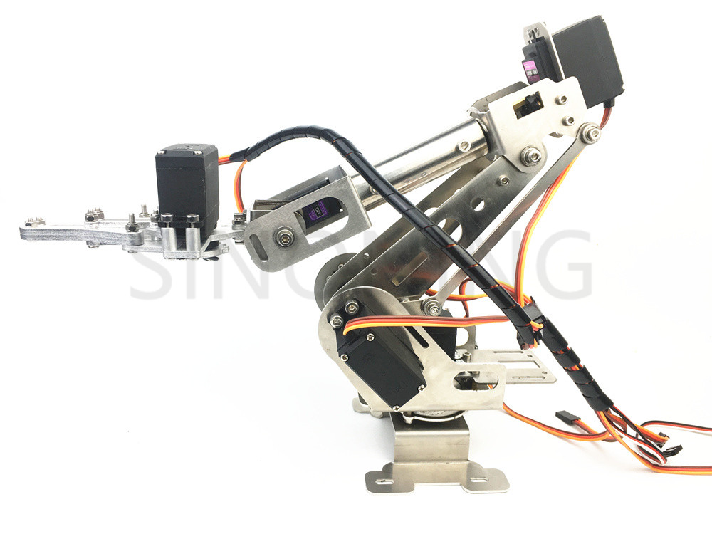 New 6DOF robotic Arm claw stainless steel 6 Axis Clamp Rotating Mechanical for Arduino Raspberry цены