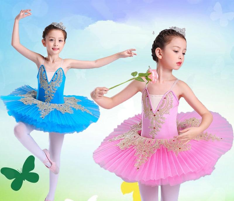 Costume de Ballet professionnel Tutus enfant lac des cygnes robe de ballerine enfants Leorard avec jupe robe de danse de crêpe pour les filles