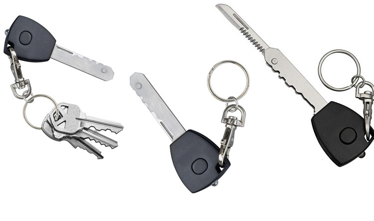5 в 1 самообороны поставки 007-скрытый ключ натуральной нож брелок светодиодные фонари Туристическое снаряжение выживания комплект