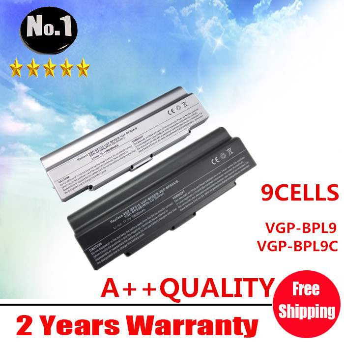 Wholesale New 9 cells Laptop battery for SONY VAIO VGN  Series  VGP-BPL9 VGP-BPL9C VGP-BPS9/B VGP-BPS9B Free shipping genuine for sony battery vaio z series vgp bps27 vgp bps27 b vpcz21v9e black free shipping