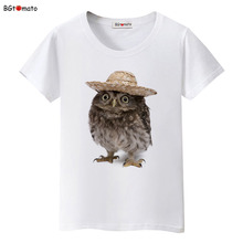 BGtomato Wear a hat of the owl t shirt women originality summer shirt Brand Good quality t shirt casual tops