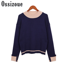 Sweater Women 2017 Autumn Winter Knit High Elastic Jumper Women Sweaters And Pullovers O-Neck Female Tricot Pull Femme Tops