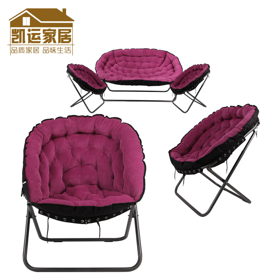 Three piece sofa chair folding chair leisure chair bedroom ...