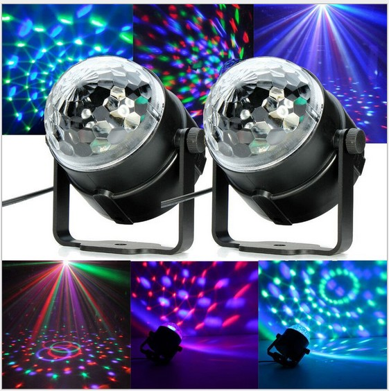 LED Stage Light 3W RGB LED Crystal Magic Ball Stage Effect Lighting Lamp Party Disco Club DJ Bar Light Show Lumiere Lamp lumiere rgb led stage effect lighting 30w auto sound magic ball disco lighting shower laser projector party dj club magic lamp