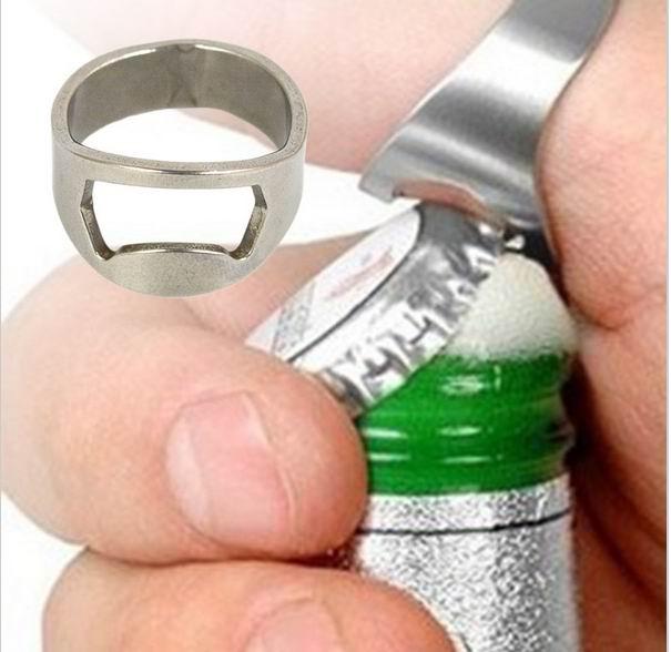 2000pcs lot Stainless Steel Finger Ring Bottle Opener Bar Beer tool Openers Mini 20mm 22mm