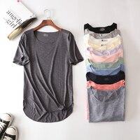 100% di Estate del Cotone di Fitness Nuovo T Shirt Manica Corta Harajuku Allentato Modello T-Shirt da Donna Casual O-Collo Slim Moda Donna Vestiti