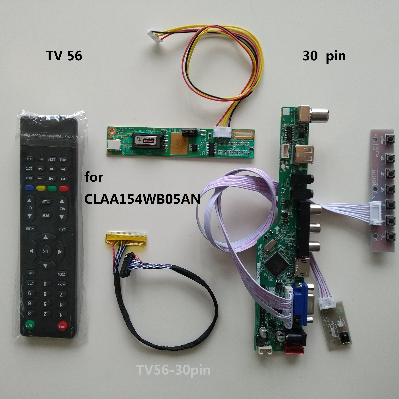 TV USB LED LCD AV VGA HDMI AUDIO Controller Board kit For  CLAA154WB05AN 1280*800 15.4 Screen Display MonitorLaptop Repair  Components