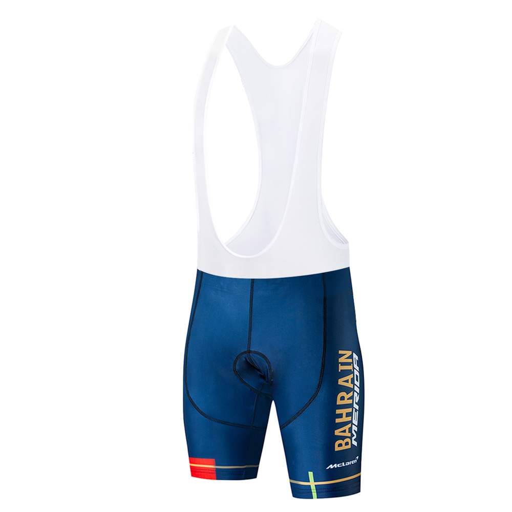 BAHRAIN 2019 Pro Cycling Shorts Ropa Ciclismo Hombre Team Summer Cycling Clothing Quick-Dry Short Sleeve Bicycle Pro Maillot