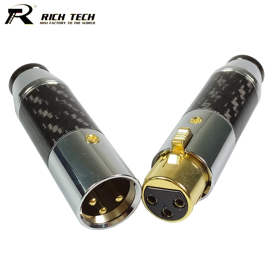 10 Sets 3 Pin XLR Connector Luxury XLR Male Plug + XLR Female Jack Socket Microphone Plug Jack Adapter Wire Connector smonisia 20pcs 200pcs high quality japanese style xlr microphone plug thre pin right angle xlr male bent socket easy welded