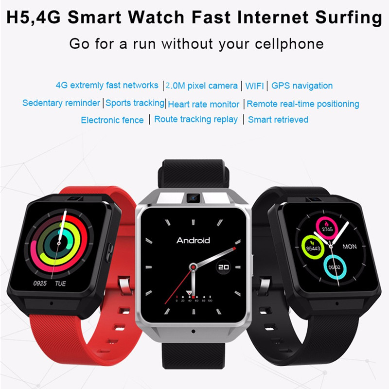 Microwear H5 4G Smartwatch Phone 1.54 inch MTK6737 Quad Core 1.1GHz 1G RAM 8G ROM GPS WiFi Heart Rate / Sleep Monitor Sedentary h5 smart watch for android ios phone mtk6737 quad core 1g ram 8g rom gps wifi heart rate 4g smartwatch phone