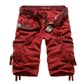 Cargo Shorts Men Cotton Casual Solid Loose Shorts New 2017 Summer Shorts Homme Trousers Plus Size 38  Brand Clothing