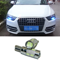2pcs Led W5W T10 canbus Car Light with Projector Lens for Audi A4 A3 A6 C5 Q7 Q5 A1 A5 80 TT A8 Q3 A7 R8 RS B6 B7 B8 S3 S4 Sline