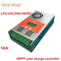 MPPT Solar Şarj Regülatörü 50A 12 V 24 V 36 V 48 V oto anahtarı LCD ekran 50A MPPT Güneş şarj Regülatörü