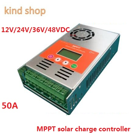 MPPT Solar Charge Controller 50A 12V 24V 36V 48V auto switch LCD display 50A MPPT Solar Charge Controller cheap saipwell high power solar charge controller 12v 50a smg50