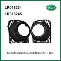 Livraison gratuite LR018234 & LR018245 droit et gauche auto brouillard lampe couverture pour Range Rover noir voiture brouillard lumière capot de rechange pièces
