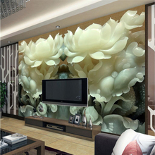beibehang Custom photo wallpaper 3d living room Jade carvings TV mural papel de parede 3d wall murals wall paper papel wall