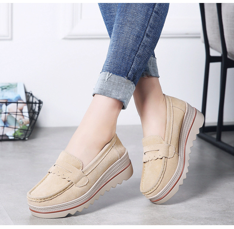 HX 8775-Spring Autumn Genuine Leather Women Shoes-16