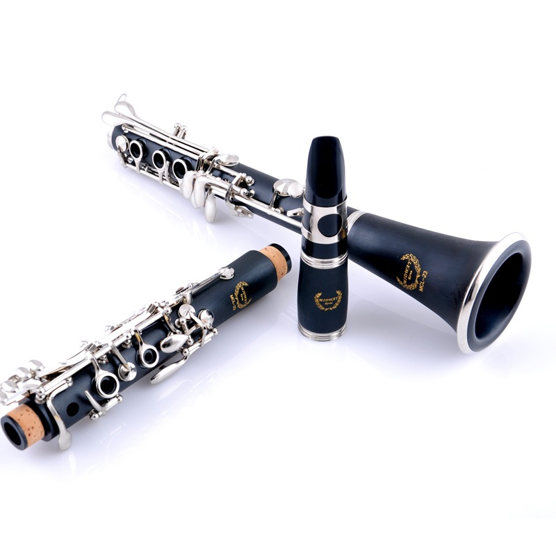 Adult children beginner falling tune B clarinet 17 key Bb performance clarinet double nickel plating bakelite with clarinet case